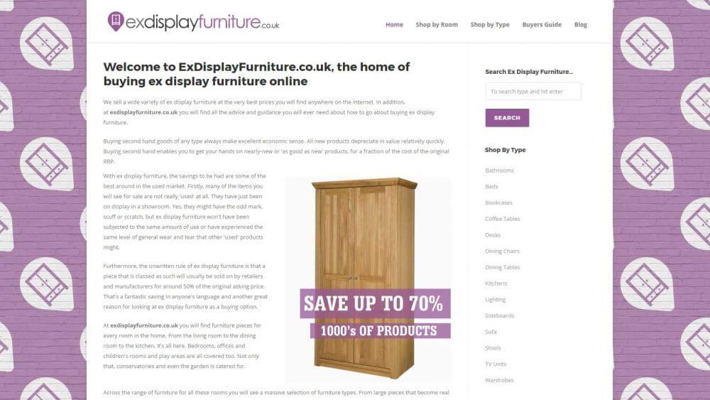 Ex Display Furniture Website