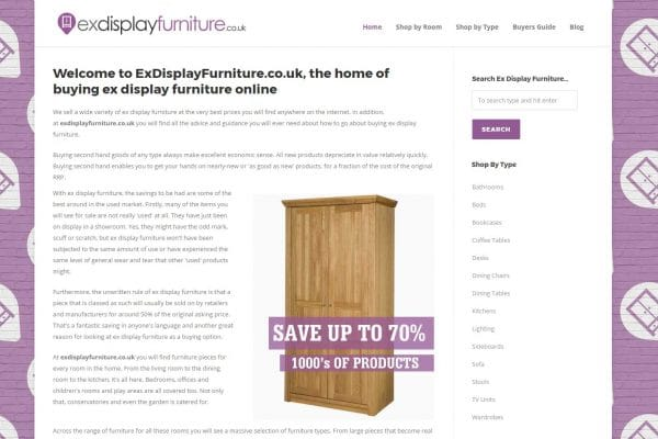 Ex Display Furniture Website
